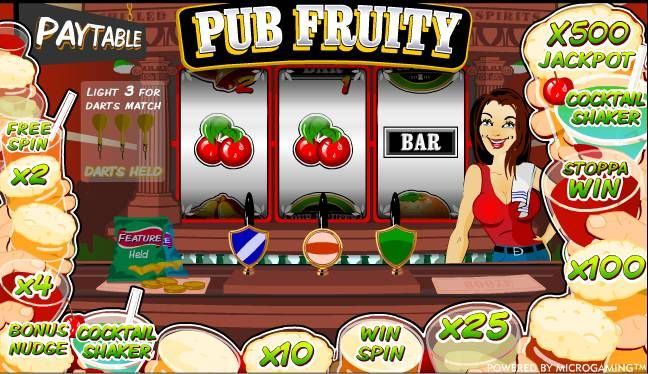 Pub Fruity: One of The most played Fruit Machine